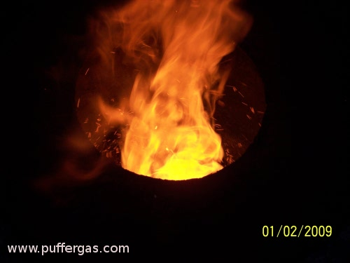 Twister Pic 2: Concentric vortex burner.